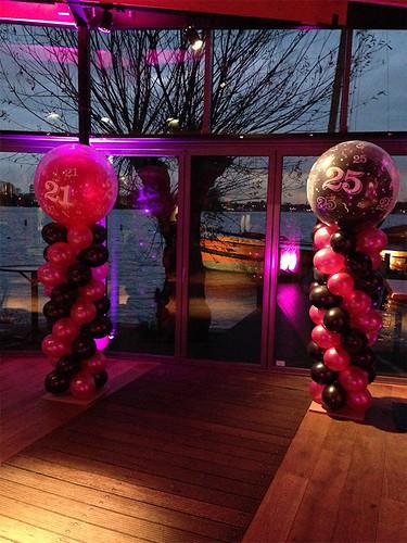 Ballonpilaar Breed Rond De Tuinen van de 4 Windstreken Rotterdam