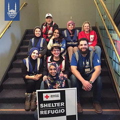 Islamic Relief USA's disaster response team working with American Red Cross at a shelter to help those affected by the Oroville Dam