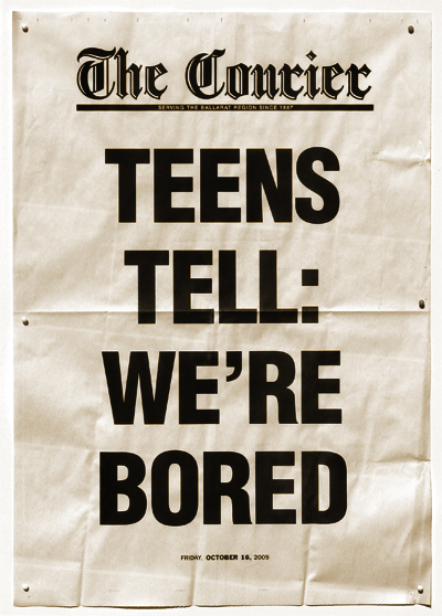 2009.10.16_Courier poster_Teens Bored._400w