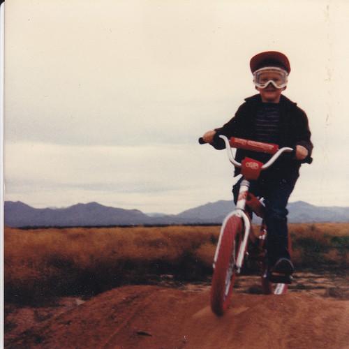 Me on my red BMX