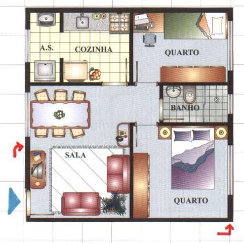 planta baixa 2 quartos