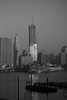 Skyline Building BW (mgorod1448) Tags: newyorkcity blackandwhite building river shadows manhattan details ornament hudson underconstruction trusses curtainwall reptition newyorkcityskyline harbror
