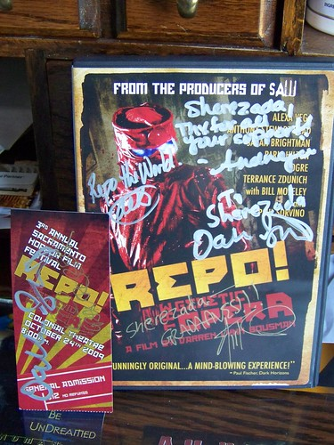 "Autographed ""Repo!"" Goodies"