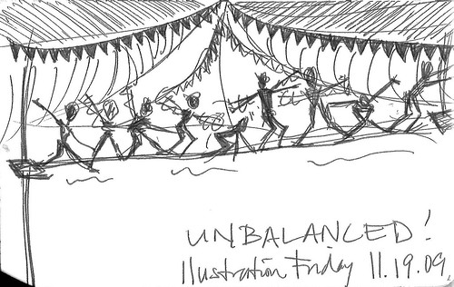 Illustration Friday: Unbalanced