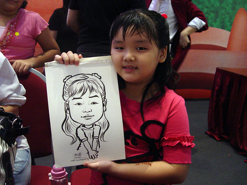 Caricature live sketching for Marina Square X'mas Tenants Gathering 2009 - 3