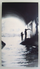 Canvas (SmugOne) Tags: uk urban detail art water monochrome wall river painting real graffiti scotland photo 3d stream paint action unitedkingdom character tag picture scottish tunnel scene can smug spray canvas hiphop spraypaint graff faceoff aerosol tagging aerosolart spraycan realism drains realistic photorealistic photorealism teamalosta alosta smugone