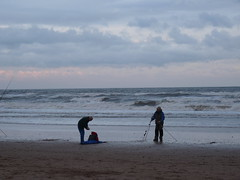 brave souls (wagsy.) Tags: sea beach lumix coast fishing fisherman waves fishermen panasonic anglers seafishing fz28