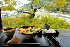 Window seat view at Yoshimura, Arashiyama, Kyoto