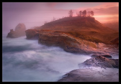 Cape Kiwanda Mist (Chip Phillips) Tags: ocean city mist oregon sunrise coast sandstone pacific cape kiwanda alemdagqualityonlyclub