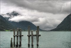 Mountain under Control of Clouds - Achensee, Austria (Batikart ... handicapped ... sorry for no comments) Tags: travel summer vacation sky cloud sun mountain lake alps reflection tree nature water berg grass weather forest canon landscape geotagged austria see tirol sterreich flora holidays wasser europa europe sommer urlaub natur meadow wiese himmel wolke wave f100 gras geology alpen mountainlake bergsee landschaft spiegelung 2009 baum welle tyrol vacanze reise canonpowershot a610 maurach achensee geologie canonpowershota610 100faves 50faves viewonblack anawesomeshot easternalps batikart karwendelalpinepark peregrino27newvision