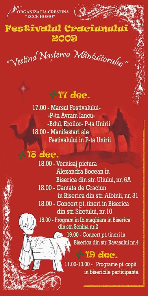 """Fundaţia Ecce Homo şi bisericile evanghelice din Cluj-Napoca: Festivalul Crăciunului """"Vestind Naşterea Mântuitorului"""""""