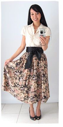 Op shopping fashion - vintage skirt and fashion restyle