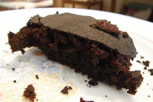 24.巧克力布朗尼橫切面