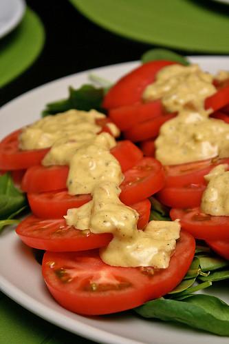 Tomato Salad with dijon vinaigrette