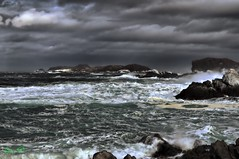 Breezy (Spence D) Tags: ocean surf ominous dramatic rocky windy stormy breezy roughwater balcalhoaisland spencedove