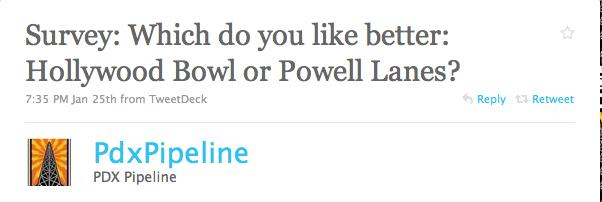 Portland Bowling Survey