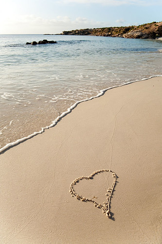 Love heart on the beach by john white photos