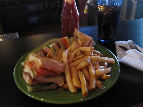Club sandwich and soda - paid with per diem
