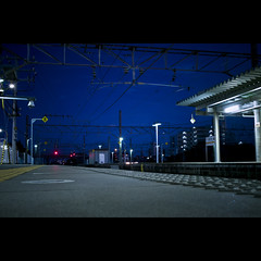 Blue (Guwashi999) Tags: station japan night sigma aichi obu foveon dp2  sigmadp2