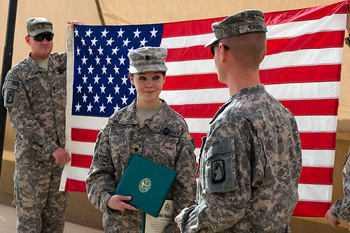 Specialist Kennedy Army reenlistment