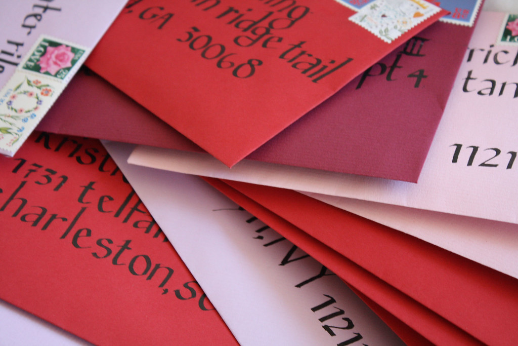 lettered envelopes