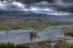 Flooded Valley (kyramas) Tags: blue sky mountain lake mountains green nature water clouds photoshop flood pentax greece hdr k7 ioannina smcfa35mmf2