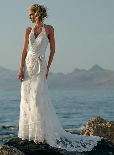 Beach style with sleeves for wedding dresses