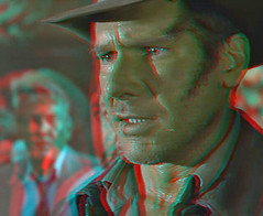 Indiana Jones (Anaglyph 3D) (patrick.swinnea) Tags: dvd stereoscopic stereophoto 3d anaglyph indianajones thelastcrusade 3dconversionharrisonford