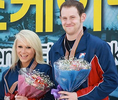 Caitlin Yankowskas and John Coughlin at Four Continents Championships.