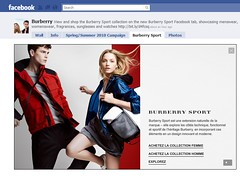 Burberry Sport Facebook e-commerce