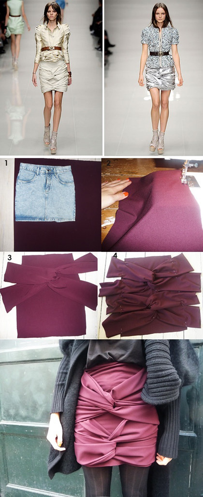 DIY Burberry tie skirt tutorial by Fashion Infusion