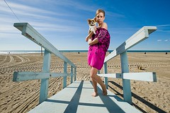 Kristine Dorow (Eric Wolfe) Tags: ocean show portrait usa dog beach television oslo norway stars tv glamour sand unitedstates santamonica documentary norwegian hollywood wives drama calfornia norske tv3 viasat4 hollywoodfruene kristinedorow original:filename=hollywoodkristineerw03jpg