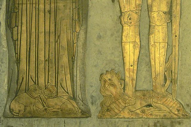Lower detail of William Bagot brass