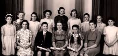 Forfar - Piano Pupils of Miss Emily L. Burns c 1951 (ronramstew) Tags: music cinema scotland ross emily photographer angus piano burns 1950s pavilion forfar 1951 tuition methods castlestreet silentfilms cormie wdbernard kmccloughlin emilylburns