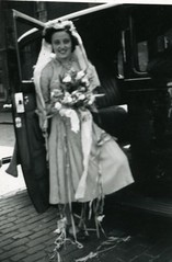Image titled Bride Margaret Law leaving work 1947