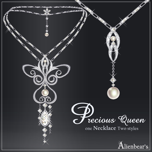 Precious Queen necklace white