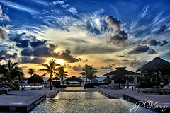 Hilton Resort, Cancun (gwhiteway) Tags: sunrise mexico hilton resort cancun hdr justclouds platinumheartaward spiritofphotography platinumpeaceaward theoriginalgoldseal