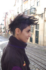 black advanced mohawk (wip-hairport) Tags: haircut black lisbon wip mohawk salon advanced hairport