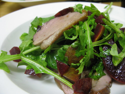 smoked duck and plum salad