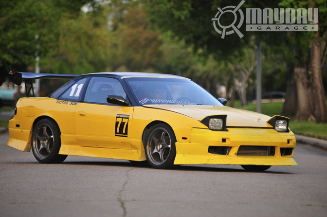 The styling may not be for everyone, but theres no way you can miss this yellow rocket at the event!