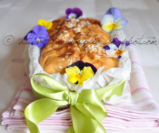 plum cake con marmellata di violette