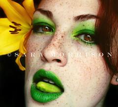 Fucking Poison (Sara_Morrison) Tags: flower yellow tongue lily lips giallo lingua freckles poison redhair fiore labbra veleno lentiggini capellirossi greenmakeup truccoverde