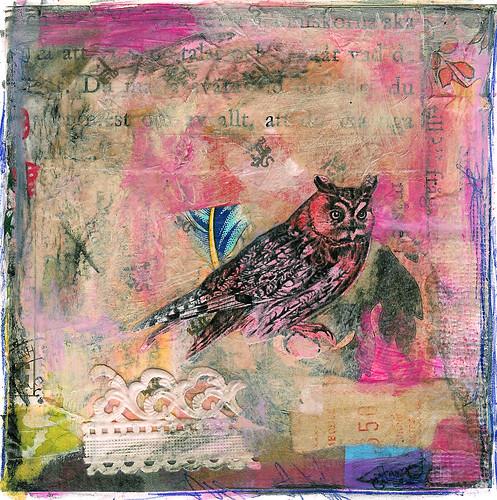 Owl Collages And Matting Ihanna S Blogihanna S Blog