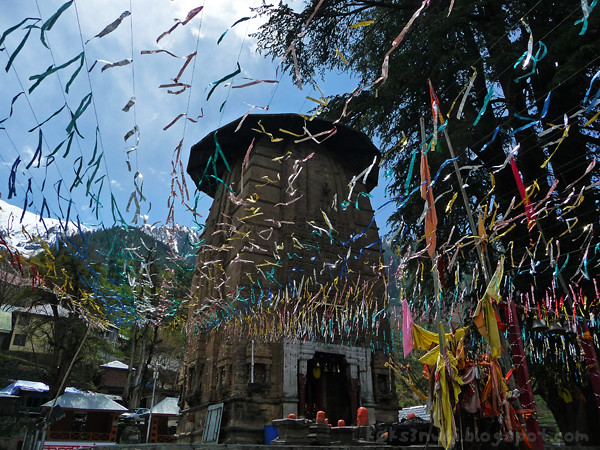 Bharmour Manimahesh Temple with Streamers
