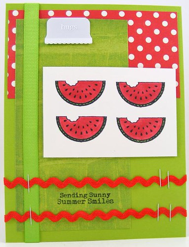 Smiling Watermelons Card