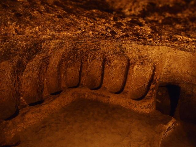 KAYMAKLI UNDERGROUND CITY - 放置葡萄酒甕的地方