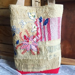 Bag by mum (Roxy Creations) Tags: gift tote embroidery flowers boro handmade sewing bag