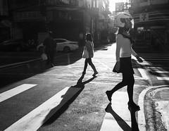 pedestrian safety (dr.milker) Tags: taiwan taipei nanchangroad pedestrians people bw blackandwhite candid monochrome noiretblanc blancoynegro urban city street crosswalk jaywalking 台灣 台北 南昌路 行人 斑馬線 穿越馬路 街拍 都市 黑白