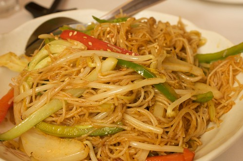 singapore noodles at idea fine foods