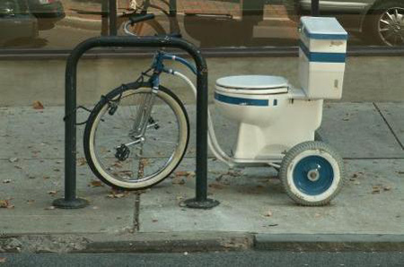 Toilet bicycle